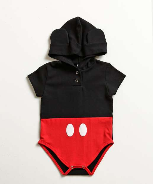 Image_Body Infantil Bebê Estampa Mickey Touca Disney