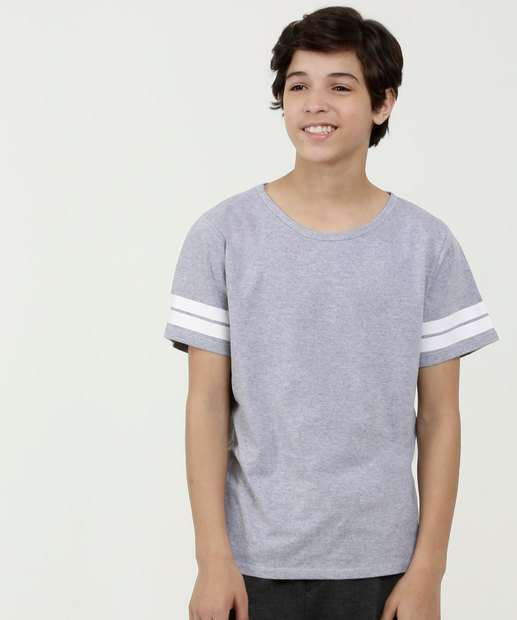 Image_Camiseta Juvenil Listras Manga Curta