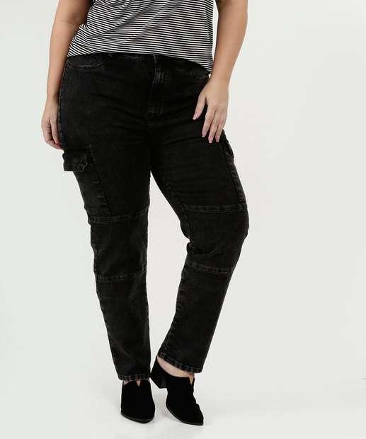 Image_Calça Feminina Jeans Cargo Skinny Plus Size Marisa