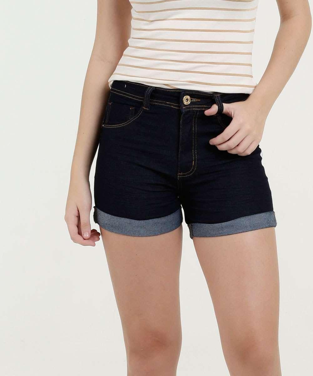 Short Feminino Jeans Cintura Média Biotipo