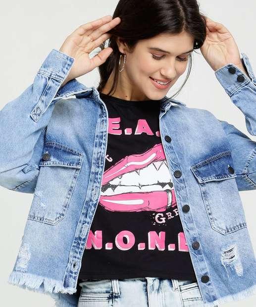 Image_Blusa Feminina Cropped Estampa Frontal Marisa