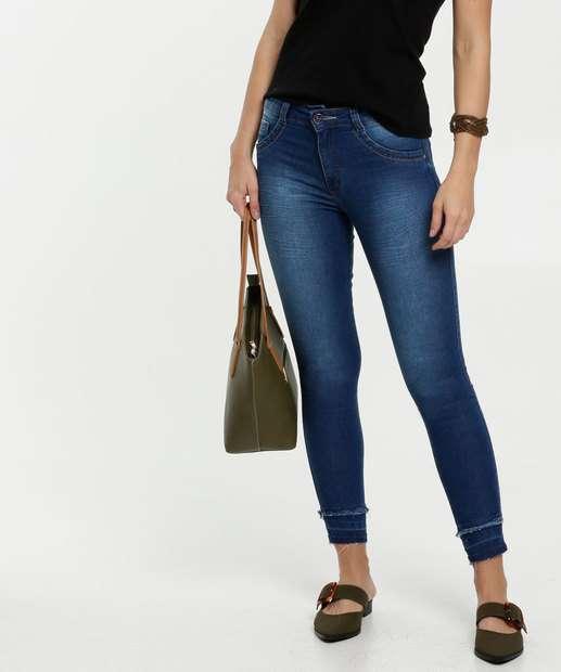 Image_Calça Feminina Jeans Barra Desfiada Skinny Biotipo