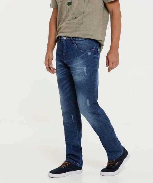 Image_Calça Masculina Jeans Puídos Reta Biotipo