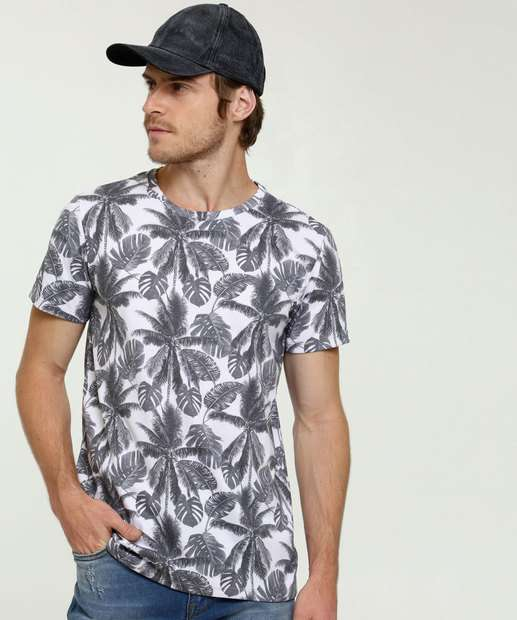 Image_Camiseta Masculina Estampa Tropical Rock & Soda
