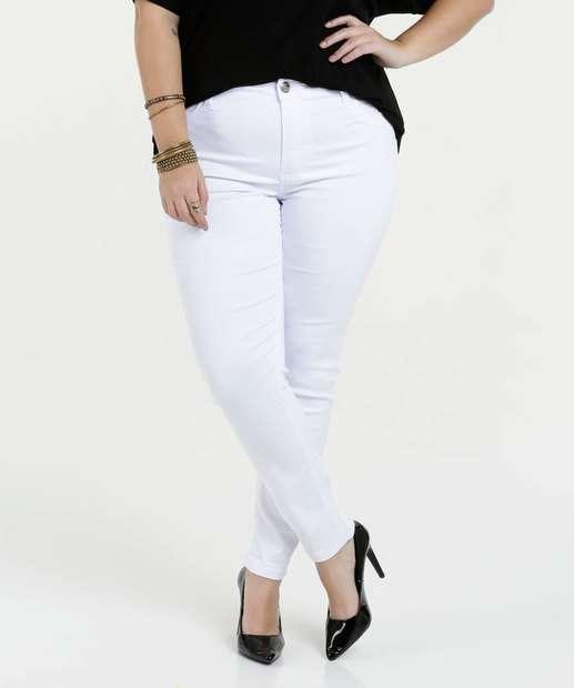 Image_Calça Feminina Sarja Skinny Plus Size Sawary