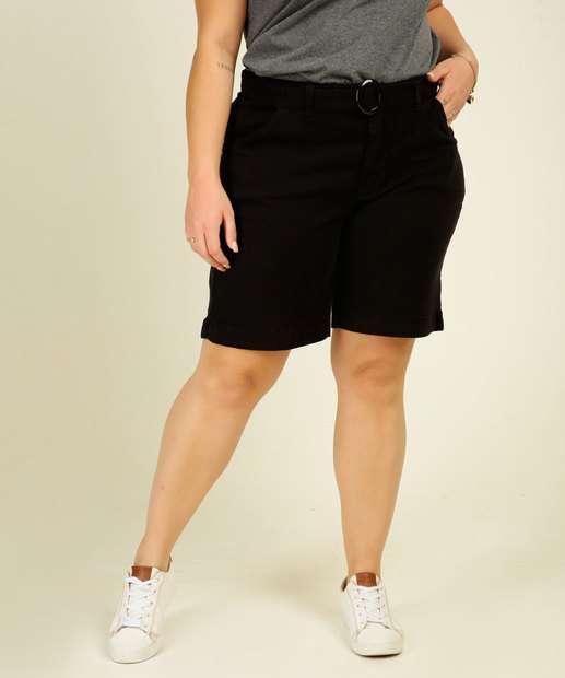 Image_Bermuda Plus Size Feminino Sarja Cintura Alta