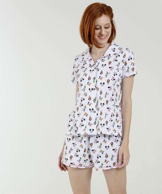 Image_Pijama Feminino Estampado Manga Curta Disney