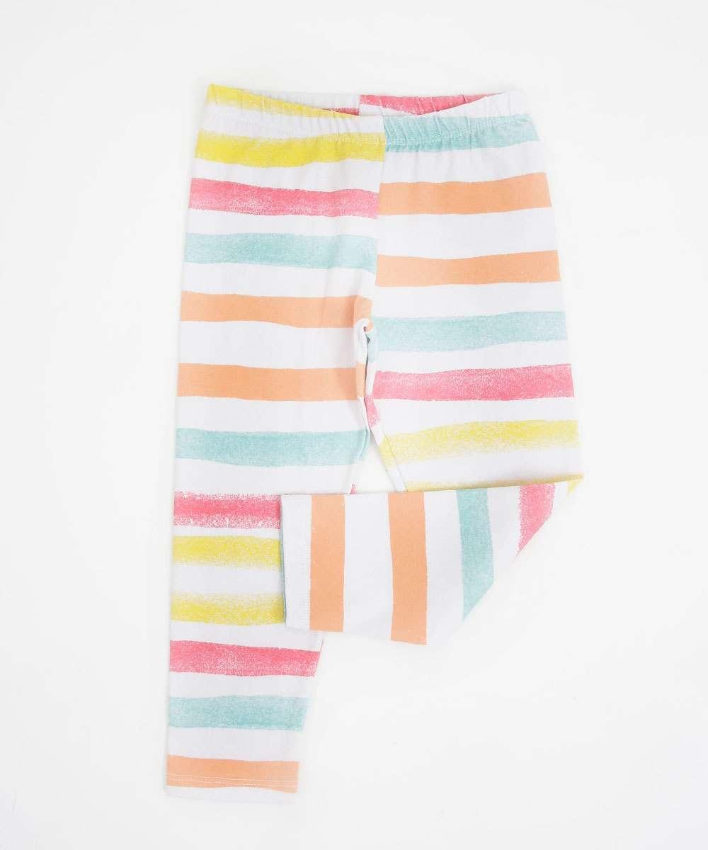 Calça Infantil Legging Listrada Marisa