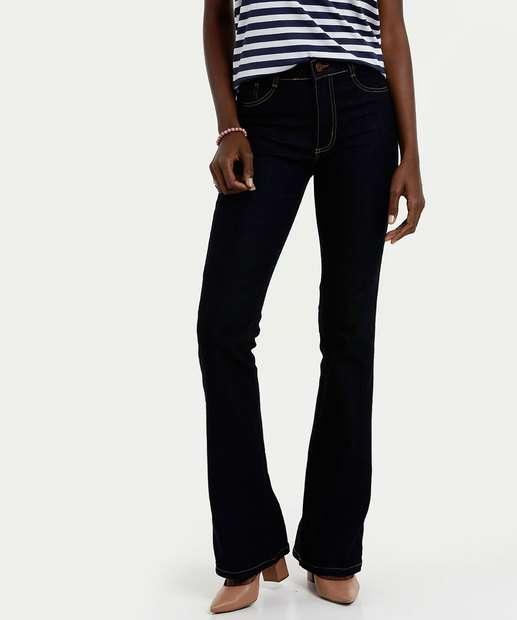 c1c4bbf344 Calça Feminina Jeans Flare Cintura Média Sawary