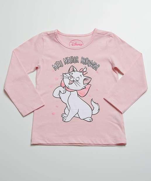 Image_Blusa Infantil Estampa Marie Manga Longa Disney