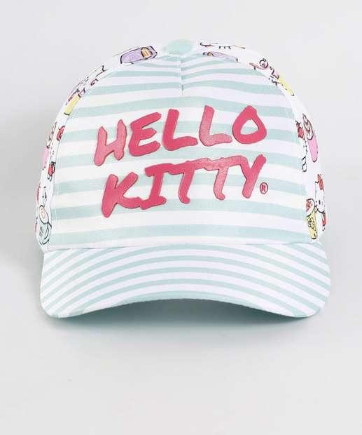 Image_Boné Infantil Listrado Hello Kitty Sanrio