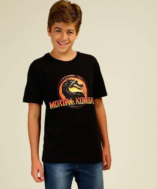 Image_Camiseta Juvenil Mortal Kombat Warner Bros Tam 10 a 16