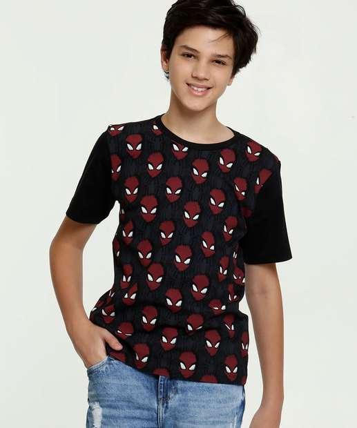 Image_Camiseta Juvenil Estampa Homem Aranha Marvel