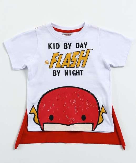 Image_ Camiseta Infantil Flash Manga Curta Liga da justiça