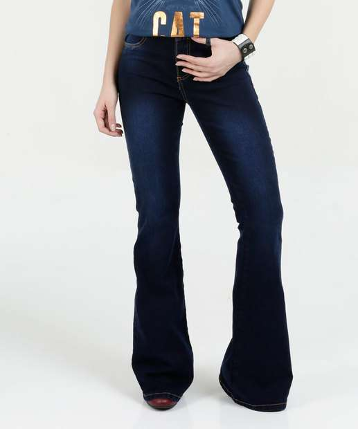 Image_Calça Feminina Jeans Flare Stretch Sawary