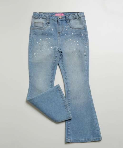 Image_Calça Infantil Jeans Flare Pérolas Marisa Tam 4 a 10