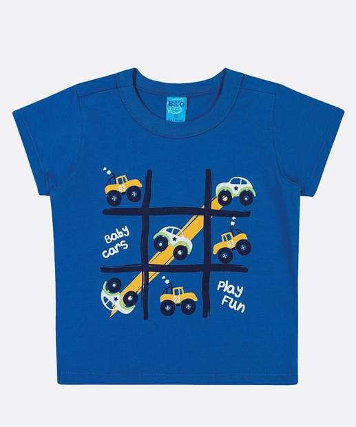 Image_Camiseta Infantil Bebê Estampada Manga Curta Tam 0 a 10 Meses