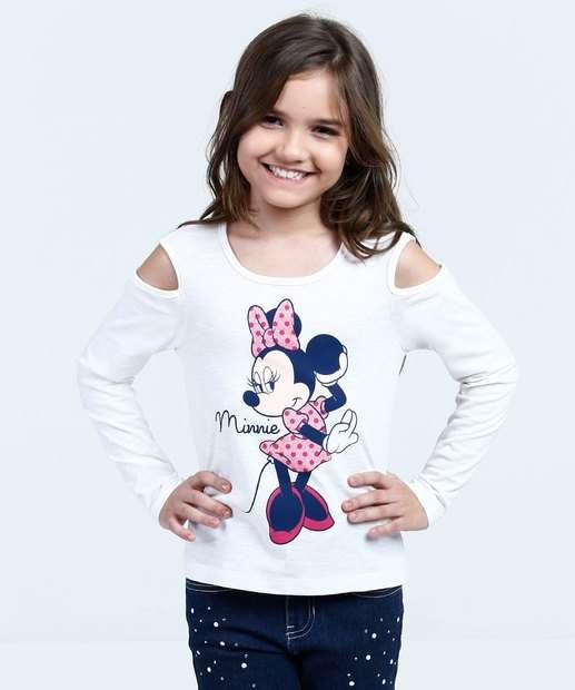 Image_Blusa Infantil Open Shoulder Estampa Minnie Disney