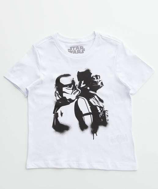 Image_Camiseta Infantil Estampa Star Wars Manga Curta Disney