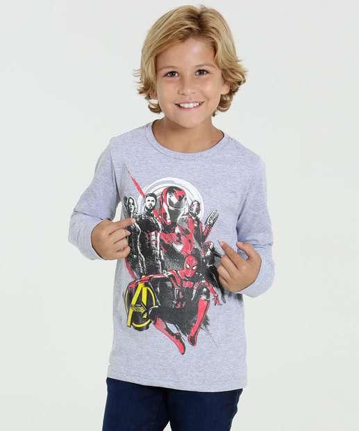 Image_Camiseta Infantil Manga Longa Os Vingadores Marvel