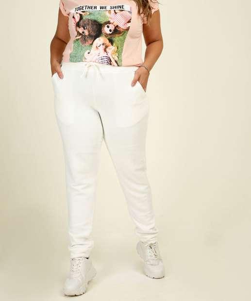 Image_Calça Plus Size Feminina Jogger Moletinho Costa Rica