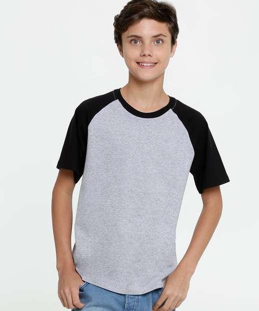 Image_Camiseta Juvenil Bicolor Manga Curta MR