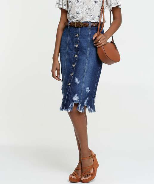 Image_Saia Feminina Jeans Destroyed Midi