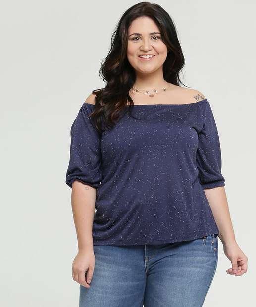 Image_Blusa Feminina Botonê Ombro a Ombro Plus Size Marisa
