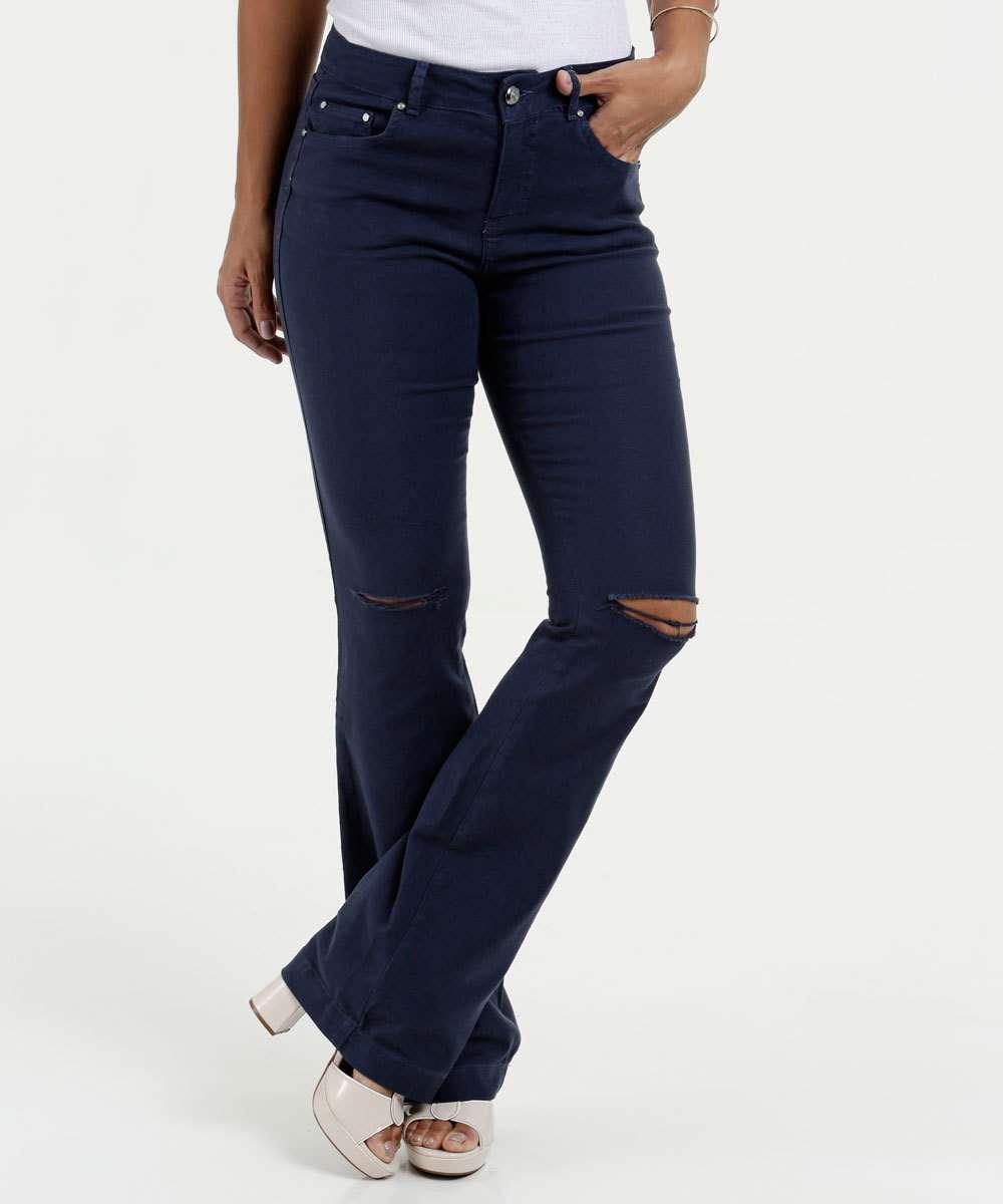 Calça Feminina Jeans Flare Gups