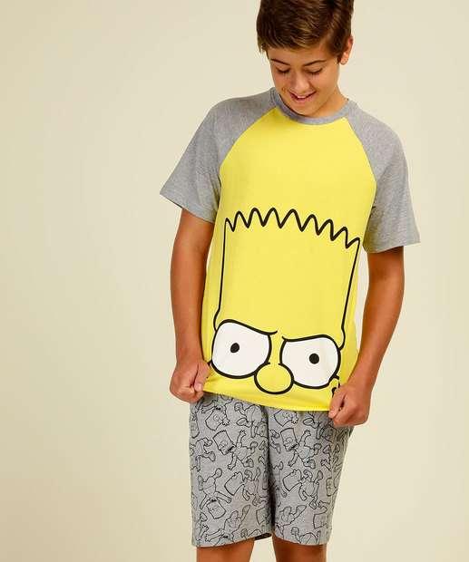 Image_Pijama Infantil Estampa Bart Manga Curta Simpsons