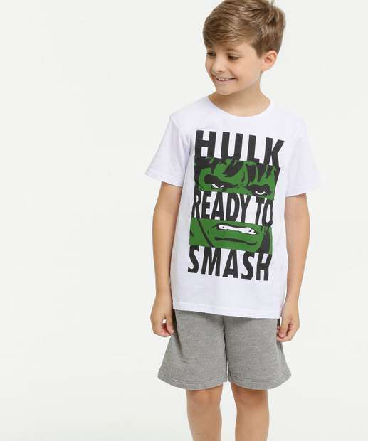 Image_Conjunto Infantil Hulk Manga Curta Marvel