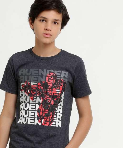 Image_Camiseta Juvenil Estampa Homem de Ferro Manga Curta Marvel