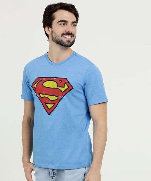 Image_Camiseta Masculina Estampa Super Homem Liga da Justiça