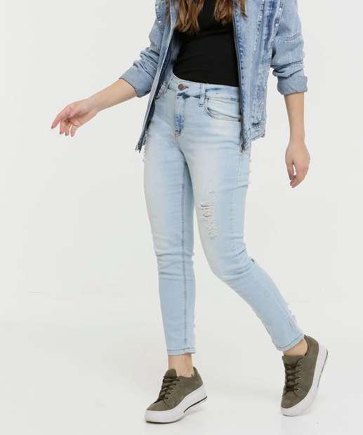Image_Calça Jeans Skinny Feminina Destroyed Disparate
