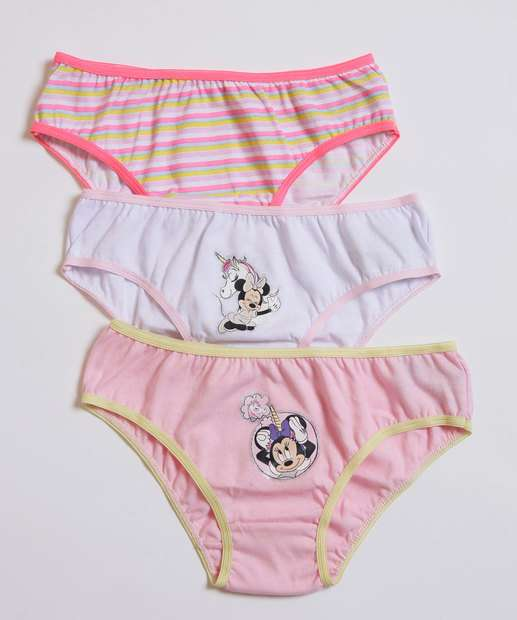 Image_Kit 3 Calcinhas Infantil Minnie Disney Tam 2 a 10