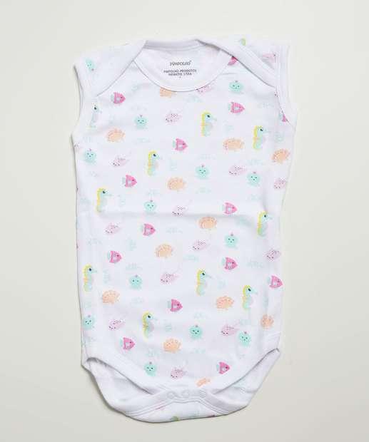 Image_Body Infantil Bebê Estampado Pimpolho Tam 0 a 8 Meses