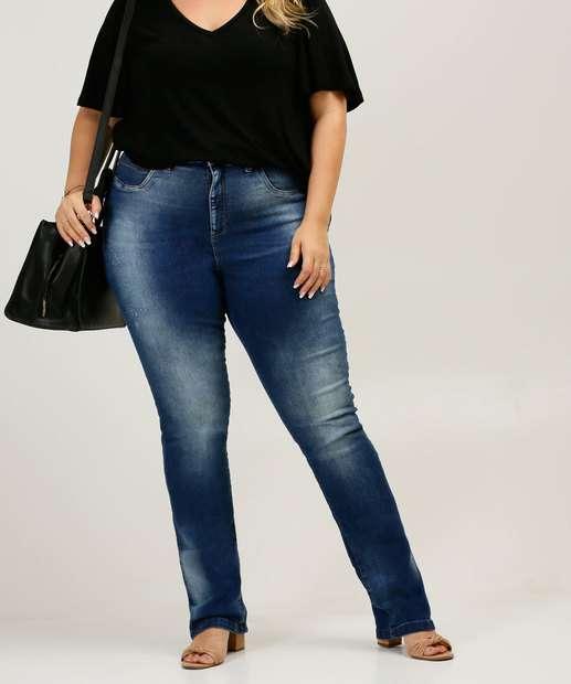 Image_Calça Plus Size Feminina Cigarrete Zune Jeans