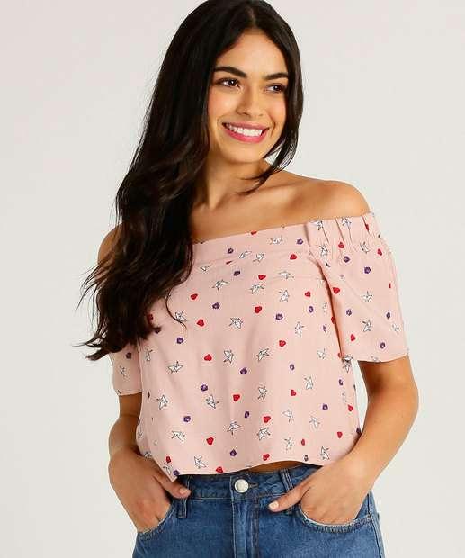 Image_Blusa Feminina Cropped Estampada Ombro a Ombro