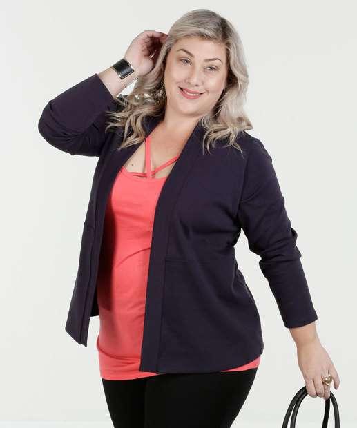 Image_Cardigan Feminino Malha Plus Size Luktal