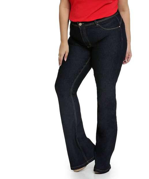Image_Calça Jeans Flare Feminina Plus Size Biotipo