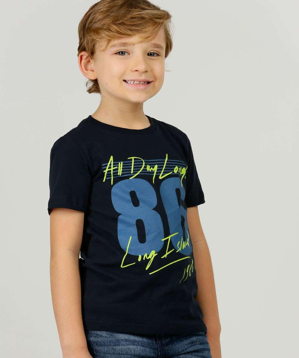 Camiseta Infantil Manga Curta MR Tam 4 a 10