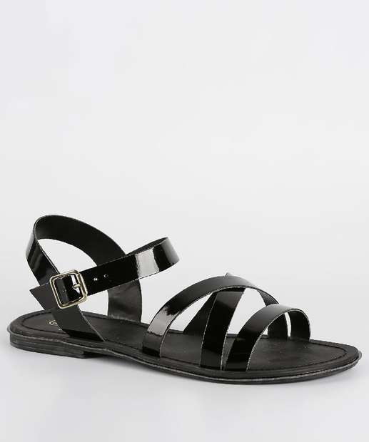 Image_Sandália Feminina Rasteira Verniz Milenar Shoes 1101919