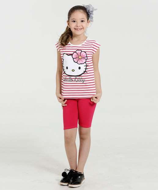 Image_Conjunto Infantil Listrado Paetês Hello Kitty