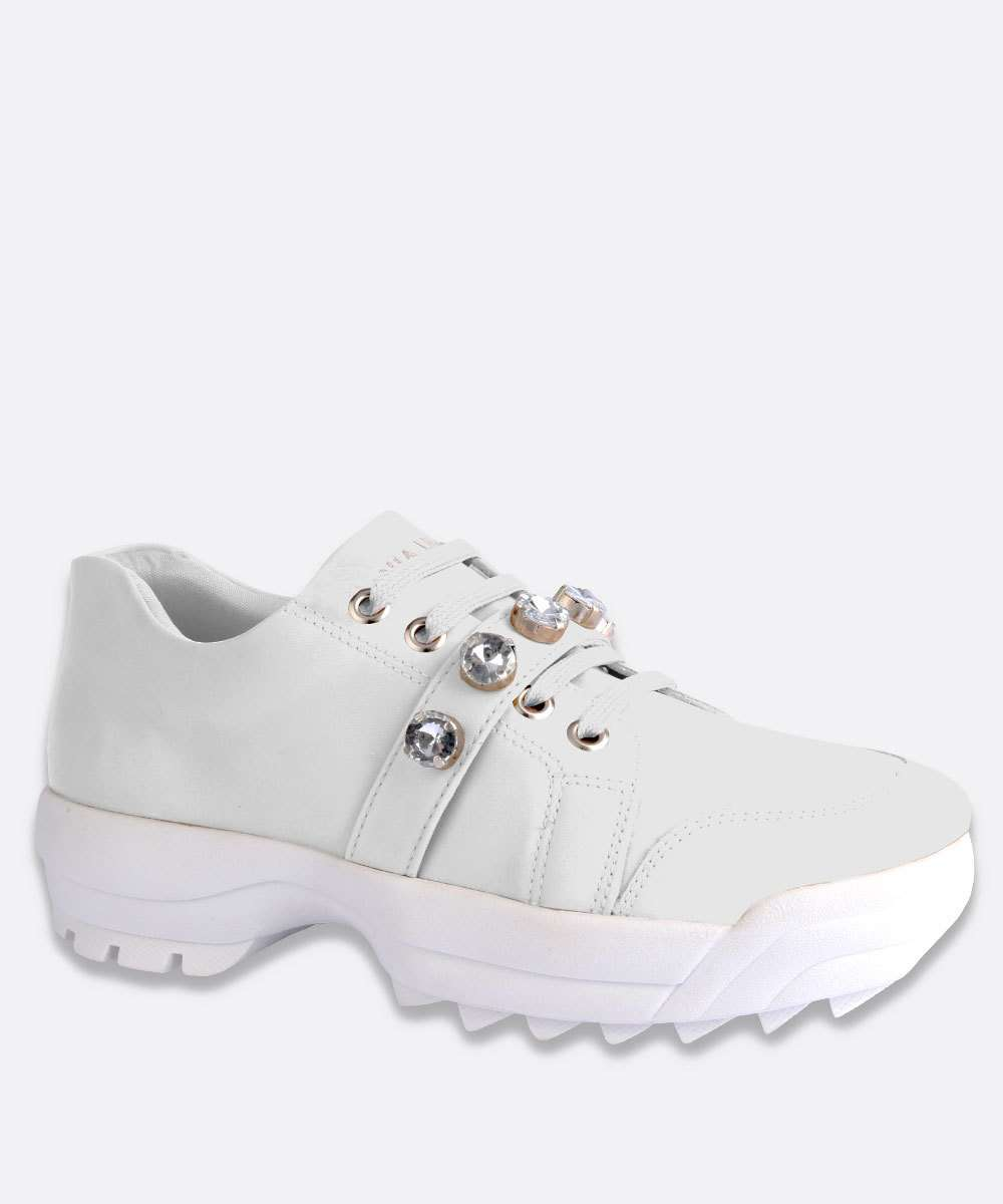 Tênis Feminino Chunky Sneaker Tachas Tratorado Via Uno