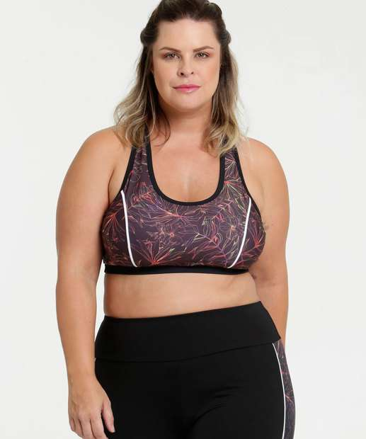 Image_Top Feminino Fitness Estampa Tropical Plus Size Marisa