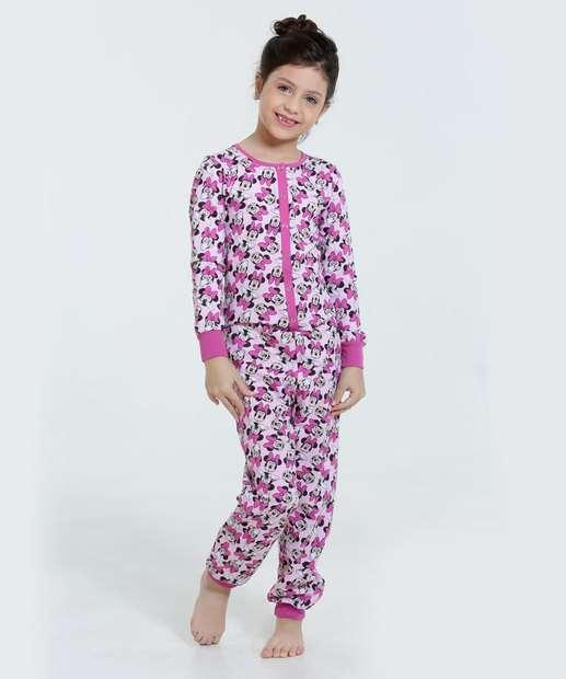 Image_Pijama Infantil Macacão Minie Disney