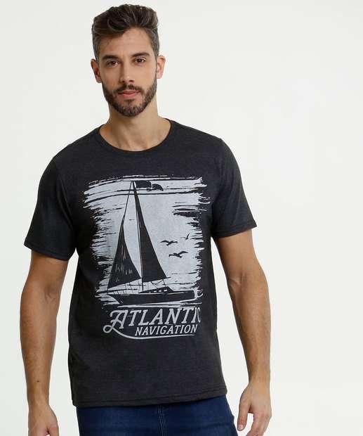 Image_Camiseta Masculina Estampa Frontal Manga Curta