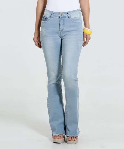 Image_Calça Feminina Flare Jeans Stretch Marisa