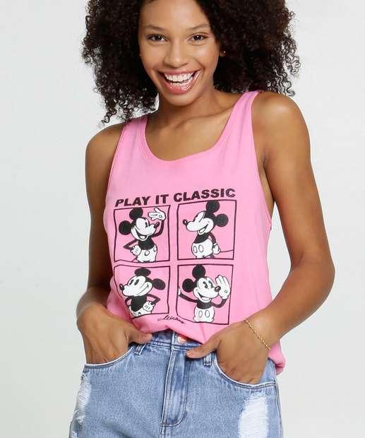 Image_Blusa Feminina Estampa Mickey Sem Mangas Disney