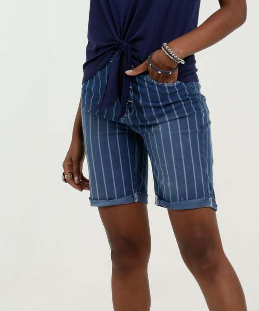 Image_Bermuda Feminina Jeans Listrada Marisa